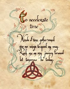 Book of Shadows: To Accelerate Time, by Charmed-BOS, at deviantART. Halloween Spell Book, Halloween Spells, Witch Spell Book, Witchcraft Spell Books, Wicca Witchcraft, Magick Spells, Charmed Spells, Charmed Book Of Shadows, Charmed Tv