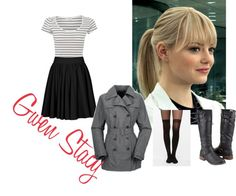"""""""Gwen Stacy Look"""" by candra-gwen-marsh on Polyvore"""