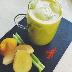 Green juice with ginger and cayenne. For the full recipe, click the picture or visit RedOnline.co.uk