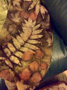 Natural dying and printing with leaves...silk and sumac