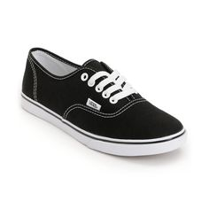 Vans Girls Authentic Lo Pro Black Shoe at Zumiez : PDP