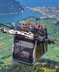 Mount Stanserhorn CabriO Cable Car is the perfect way to get incredible views of Switzerland Switzerland Vacation, Visit Switzerland, Lucerne Switzerland, Switzerland Destinations, Switzerland Hotels, Travel Around The World, Around The Worlds, Places To Travel, Places To Visit