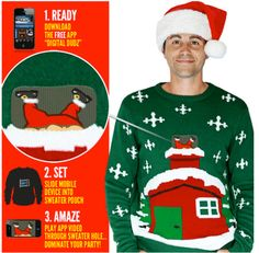 Ugly Christmas Sweaters That Become Animated With the Use of a Smartphone