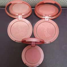 tarte Blush Bundle UPDATED  All blushes are very gently pre loved but have been sanitized with Beauty So Clean.   Top Row: Empowered and Charisma Bottom: Dollface (This is not full size)  No trades.   Please submit any offers though the offer option. tarte Makeup Blush