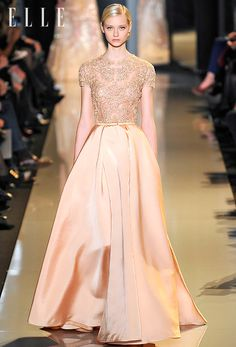 Ellie Saab - Paris 2013.  Stunning. YES. YES. YES. This was MADE for me!