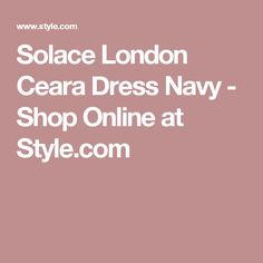 Solace London Ceara Dress Navy - Shop Online at Style.com