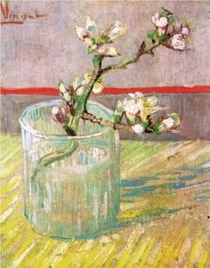 Blossoming Almond Branch in a Glass (1888) oil on canvas 24 x 19 cm