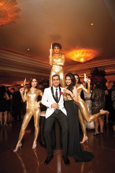 Goldfinger theme party