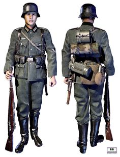 Historically accurate and highly detailed conforming uniform, with all equipment, weapons and headgear to reproduce the german infantry uniform of World War Two, early war to late war. What& included on editorial tab. Ww2 Uniforms, German Uniforms, Military Uniforms, German Soldiers Ww2, German Army, American Uniform, Army Ranks, World War One, Military History