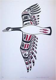 Canadian goose print by Todd Baker Arte Inuit, Arte Haida, Haida Art, Inuit Art, Native American Symbols, Native American Design, Native Design, American Indian Art, Tatouage Haida