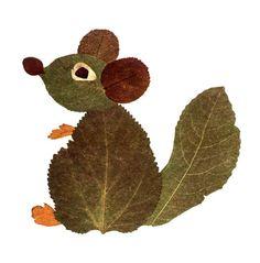 Động vật xếp từ lá cây - Nghệ thuật - NDH.vn