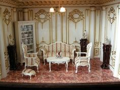 These miniature room boxes by Ken Haseltine are just amazing!