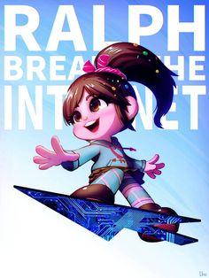 Disney And Dreamworks, Disney Pixar, Walt Disney, Disney Characters, Disney Girls, Disney Princess, Vanellope Von Schweetz, Fanart, Funny Character