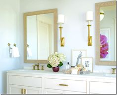 Love the simple and gold look of this. Don't know if Neil would go for the colors, but idea may work for hte paster - circa master bath - La Dolce Vita - Paloma contreras