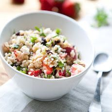 Spring Fruit and Nut Tabouli. Looks good for SUMMER!