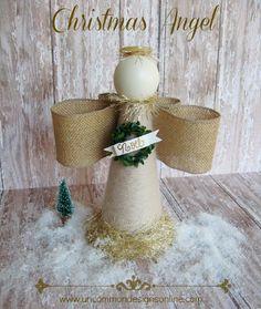 Beautiful Burlap Christmas Angel