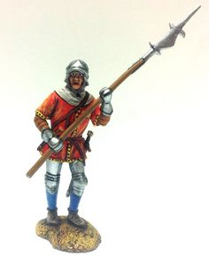 Infantry Wars of the Roses. HAND PAINTED, Tin toy soldiers, Metal 54mm,