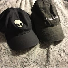 Brandy Melville baseball caps. Alien Hat, and uh huh honey hat. No trades. Now lowest. Offer button works. No low balls. Cheaper on merc. Brandy Melville Accessories Hats