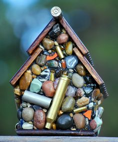 Recycled Bullet Shell Birdhouse for Hunters by WinestoneBirdhouses