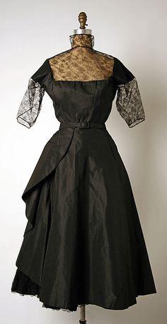 Dress, Afternoon Madame Grès (Alix Barton)  (French, Paris 1903–1993 Var region) Date: ca. 1950 Culture: French Medium: silk
