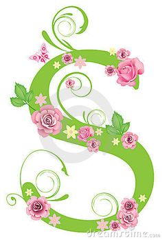 Letra S con las rosas