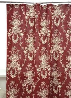 Amazon.com: Waverly by Famous Home Fashions Country House Red Shower Curtain: Bedding & Bath