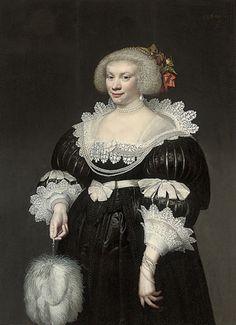 """Portrait of a lady"" by Jan Anthonisz van Ravesteyn, circa 1630-50"