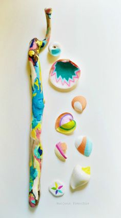 Boho Beach Finds - Neons and Pastels - 9 Piece Collection, Pattern, Bohemian…