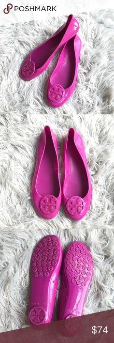 b1a66d3785 Tory Burch Jelly Reva Flats Excellent conditions with barely any wear on  sole and one tiny scratch in the back of the heel. This shoes do not have a  size ...