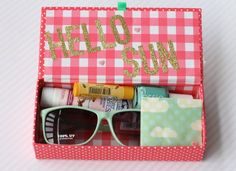 Is The Year Over? – Want to give something at the end of the year that's a little different, how about a looking forward to summer gift! Who isn't ready for a little sun and fun at the end of a busy dance year. Sunglasses, sunscreen, chapstick, nailpolish