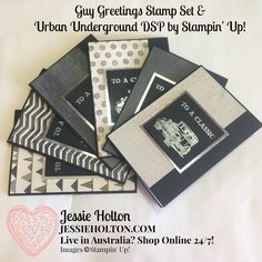Hi Crafters! Today I've made up a big bunch of cards using a quarter of a pack of the Urban Underground Designer Series Paper (DSP) along ...