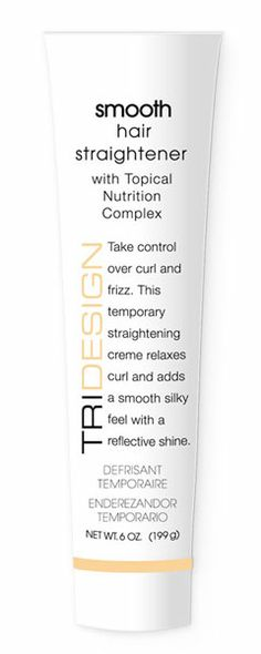 Smooth Hair Straightener - a temporary straightening creme that leaves hair smooth and shiny.