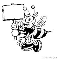 Image result for abeille coloriage