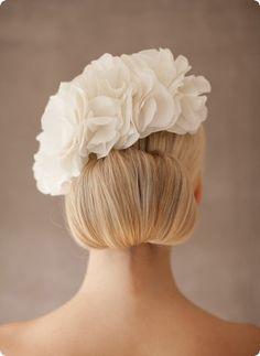 Silk flower Grace - BelleJulie bridal headpiece