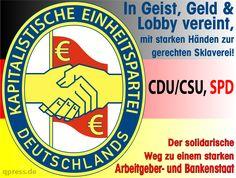 ❌❌❌ Die Große Koalition, bestehend aus CDU/CSU/SPD, wird auf Dauer die deutsche Scheindemokratie noch mehr beschädigen als es die Einzelparteien in den Jahrzehnten zuvor vermochten. Immerhin ist sie, als eine Partei betrachtet, eine Instanz die von 100 Prozent der Wähler niemals gewählt wurde. Gerade mit Blick auf aktuelle Ereignisse, wie CETA-Freihandelsabkommen, Flüchtlingspolitik und weitere EU Projekte. Alles mit verheerenden Folgen. ❌❌❌ #Koalition #Fluch #Deutschland #GroKo #CDU #SPD