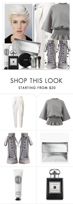 """Hair trend"" by katie888-777 ❤ liked on Polyvore featuring Delpozo, STELLA McCARTNEY, Zimmermann, Boohoo, Diptyque, Jo Malone and Chanel"