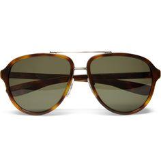 d639261900 Bottega Veneta Tortoiseshell Aviator Sunglasses Mr Porter