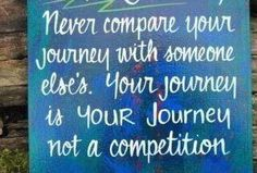 Compete only with yourself.  Always strive to be a better you.  YOU CAN DO IT! =)