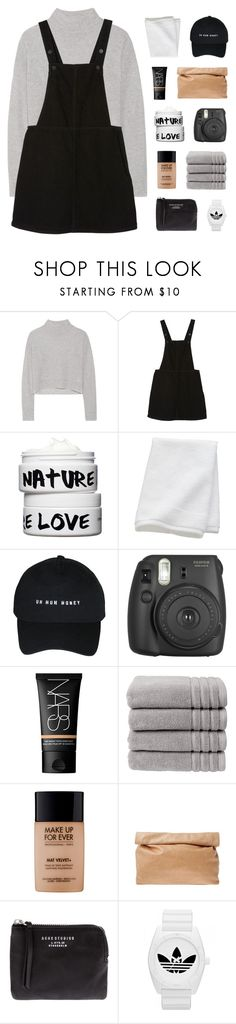 """""""fragile"""" by kiiaa ❤ liked on Polyvore featuring Line, Monki, Nature Girl, CB2, NARS Cosmetics, Christy, MAKE UP FOR EVER, Marie Turnor, Acne Studios and adidas"""