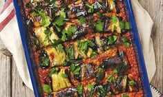 38/100 #newrecipe Yotam Ottolenghi's paneer-stuffed aubergine in red lentil and coconut sauce.