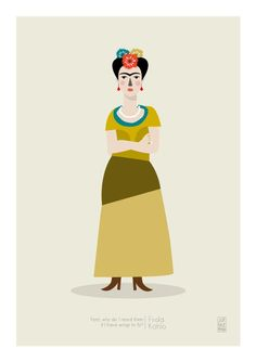The famous Frida K. by Judy Kaufmann. Just one of many great illustrations!