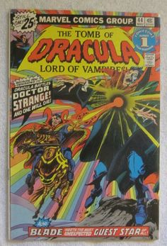 Tomb of Dracula #44 (May 1976, Marvel) Doctor Strange app FN 6.0
