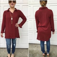 last largecasual long sleeve tops Casual long sleeve top with hi-lo hem. Large (10/12) Price is firm unless bundled. Tops