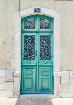 mint-green-door