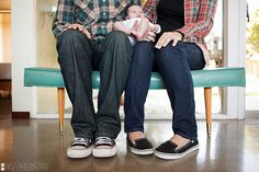 family picture with new itty bitty :)