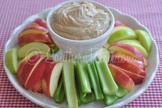 Creamy Peanut Butter Fruit Dip Recipe Appetizers with cream cheese, peanut butter, dark brown sugar, milk