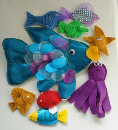 Rainbow Fish Handmade Story Sack Resource Literacy PGCE EYFS Childminder Nursery
