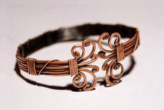 Mens cuff bracelet, wire wrapped jewelry handmade, bracelet copper, bracelet men, copper cuff bracelet