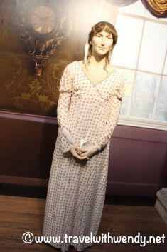 ©Travel with Wendy Jane Austen wax figure likeness Jane Austen Centre Bath, England 7 Sensible things to do in Bath! www.travelwithwendy.net