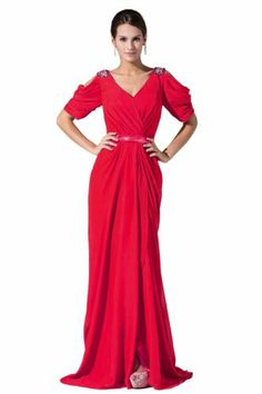 Dlass Women's Elegant Short Sleeve Chiffon Evening Dress (US12, Red) Dlass,http://www.amazon.com/dp/B00GDU26O4/ref=cm_sw_r_pi_dp_EQPbtb1QX9HZXG64